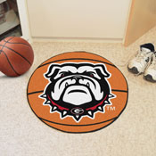 Georgia Black New Bulldog Basketball Mat 27 diameter