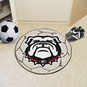 Georgia Black New Bulldog Soccer Ball Mat 27 diameter