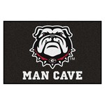 Georgia Black New Bulldog Man Cave Starter Rug 19x30