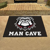 Georgia Black New Bulldog Man Cave All-Star Mat 33.75x42.5