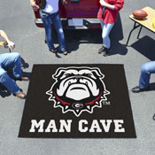 Georgia Black New Bulldog Man Cave Tailgater Rug 5'x6'