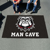 Georgia Black New Bulldog Man Cave UltiMat 5'x8' Rug