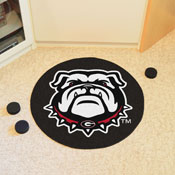Georgia Black New Bulldog Puck Mat 27 diameter