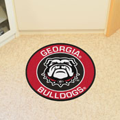 Georgia Black New Bulldog Roundel Mat 27 diameter