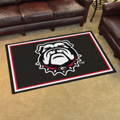 Georgia Black New Bulldog Rug
