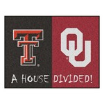 House Divided: Texas Tech / Oklahoma House Divided Rug 33.75x42.5