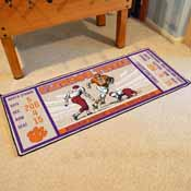 Clemson University Ticket Runner 30x72