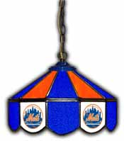 New York Mets 14 inch Glass Pub Lamp