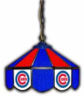 Chicago Cubs 14 inch Glass Pub Lamp