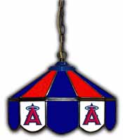 Los Angeles Angels 14 inch Glass Pub Lamp