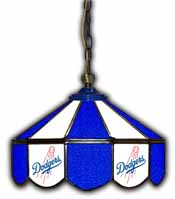 Los Angeles Dodgers 14 inch Glass Pub Lamp