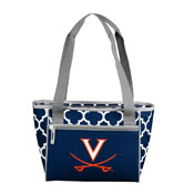 Virginia Quatrefoil 16 Can Cooler Tote