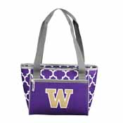 Washington Quatrefoil 16 Can Cooler Tote