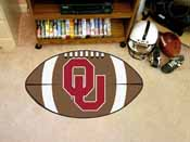 Oklahoma Football Rug 20.5x32.5