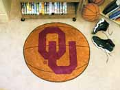 Oklahoma Basketball Mat 27 diameter