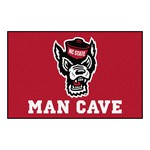NC State Man Cave Starter Rug 19x30