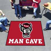 NC State Man Cave Tailgater Rug 5'x6'