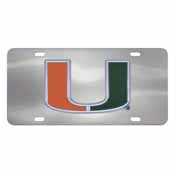 University of Miami Diecast License Plate 12X6