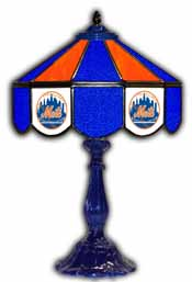 New York Mets 21 inch Glass Table Lamp
