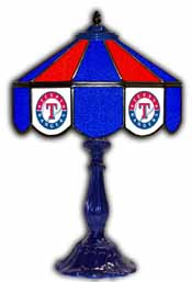 Texas Rangers 21 inch Glass Table Lamp