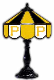 Pittsburgh Pirates 21 inch Glass Table Lamp