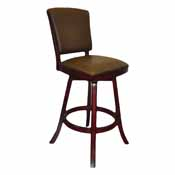 Imperial Bar Stool With Back, Mahogany
