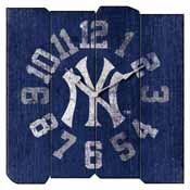 New York Yankees Square Vintage Wall Clock