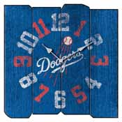 Los Angeles Dodgers Square Vintage Wall Clock