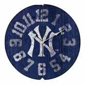 New York Yankees Round Vintage Wall Clock
