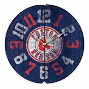 Boston Red Sox Round Vintage Wall Clock