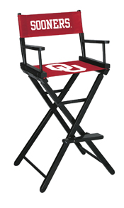 University of Oklahoma Directors Chair Bar Height
