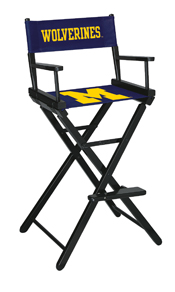 University of Michigan Directors Chair-Bar Height