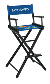 University of Kansas Directors Chair-Bar Height