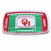 Oklahoma Sooners Chip & Dip Tray