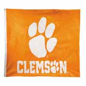 Clemson Tigers 2-sided Nylon Applique 3 Ft x 5 Ft Flag w/ grommets