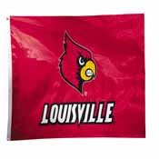 Louisville Cardinals 2-sided Nylon Applique 3 Ft x 5 Ft Flag w/ grommets