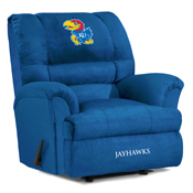 University of Kansas Big Daddy Microfiber Recliner