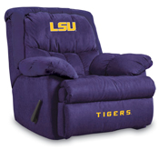 Louisiana State University Microfiber Home Team Microfiber Recliner