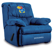 University of Kansas Home Team Microfiber Recliner
