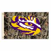 LSU Tigers 3 Ft. X 5 Ft. Flag W/Grommets - Realtree Camo Background