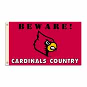 Louisville Cardinals 3 Ft. X 5 Ft. Flag W/Grommets - Country