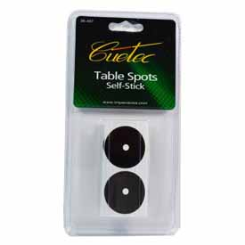 Cuetec Self-Stick Table Spots, Package Of 6