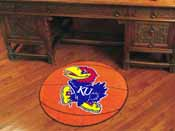 Kansas Basketball Mat 27 diameter