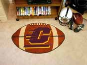 Central Michigan Football Rug 20.5x32.5