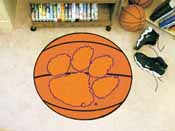 Clemson Basketball Mat 27 diameter