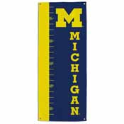 Michigan Wolverines Growth Chart Banner