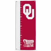 Oklahoma Sooners Growth Chart Banner