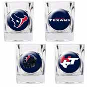 Houston Texans 4pc Collector's Shot Glass Set