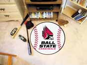 Ball State Baseball Mat 27 diameter