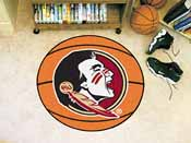 Florida State Seminoles Basketball Mat 27 diameter